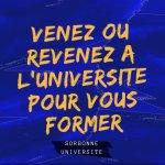 Photo Venir ou revenir à Sorbonne Université